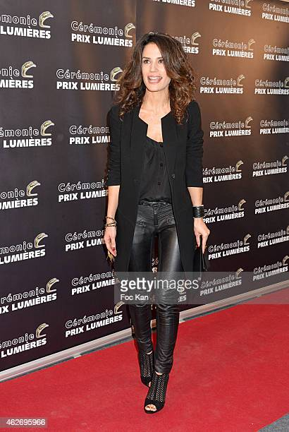 Barbara Cabrita attends 'Les Lumieres 2015' Arrivals At Espace Pierre Cardin on February 2 2015 in Paris France