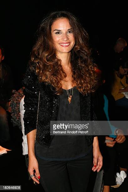 Barbara Cabrita attends the Zadig & Voltaire show as part of the Paris Fashion Week Womenswear Spring/Summer 2014 at the Palais De Tokyo on October...
