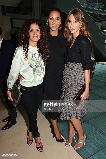 Barbara Cabrita Noemie Lenoir and Ophelie Meunier attend the John Galliano show as part of the Paris Fashion Week Womenswear Spring/Summer 2015 John...
