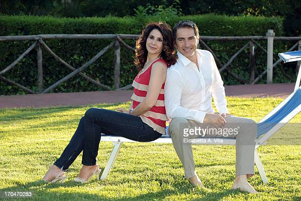 Barbara Capponi and Marco Liorni attend 'Vita in Diretta Estate' TV Show at Circolo Rai on June 13 2013 in Rome Italy