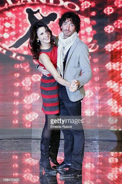 Barbara Capponi and Samuel Peron attend the Ballando Con Le Stelle photocall at Auditorium RAI on February 24 2011 in Rome Italy