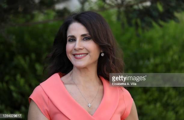 Barbara Capponi attends 'Uno Mattina Estate' tv show photocall at RAI Saxa Rubra on July 03 2020 in Rome Italy