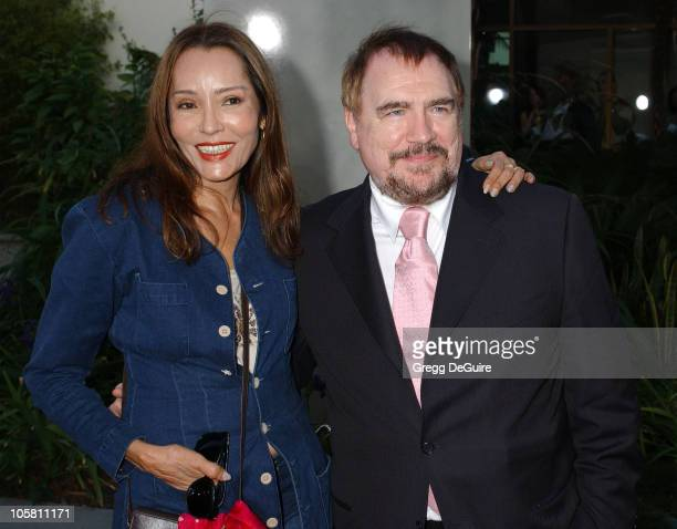 Barbara Carrera and Brian Cox during The Bourne Supremacy World Premiere Arrivals at ArcLight Cinema in Hollywood California United States