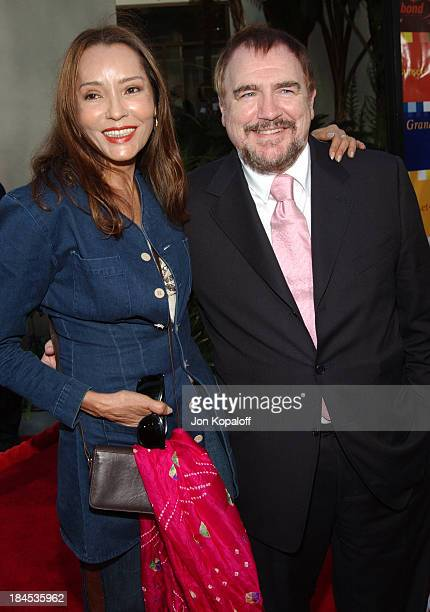 Barbara Carrera and Brian Cox during The Bourne Supremacy World Premiere Arrivals at ArcLight Cinerama Dome in Hollywood California United States