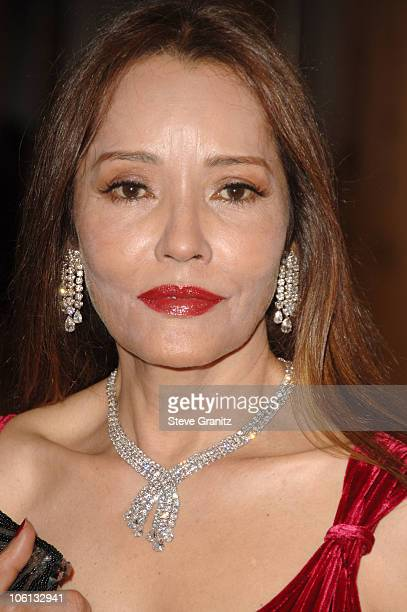 Barbara Carrera during MercedesBenz Presents the 17th Carousel of Hope Ball Arrivals at Beverly Hilton Hotel in Beverly Hills California United States