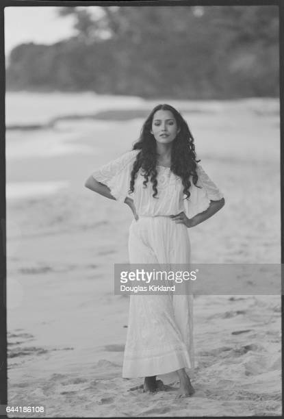 Barbara Carrera in the Surf
