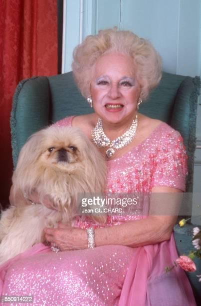 Barbara Cartland à Paris le 16 janvier 1988, France.