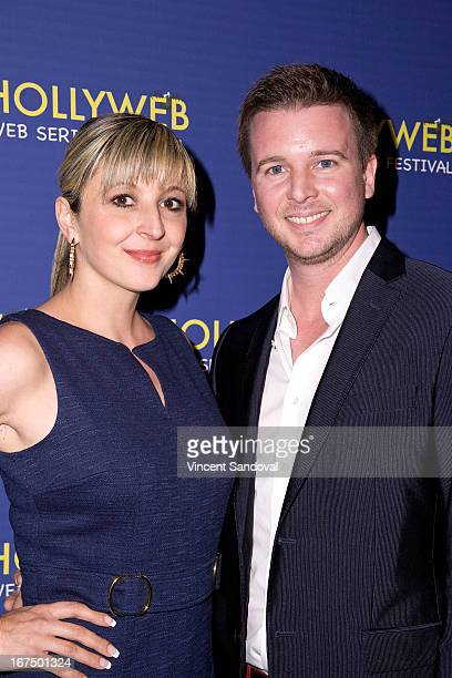 Barbara Caruso and Michael Caruso attend the 2nd annual HollyWeb Festival at Avalon on April 7 2013 in Hollywood California