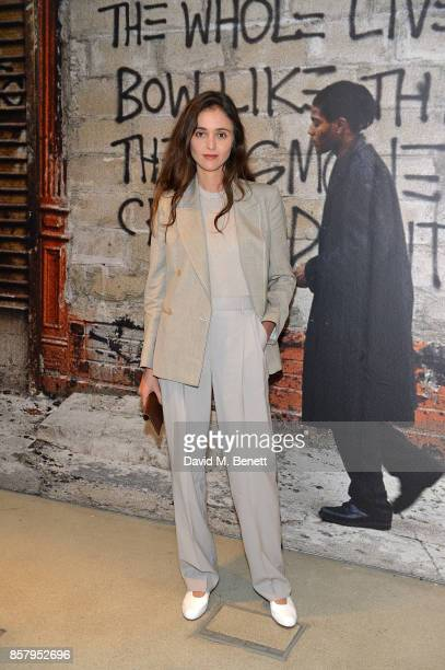 Barbara Casasola attends a private view of the Basquiat exhibition cohosted by NETAPORTER in partnership with Frieze at Barbican Centre on October 5...