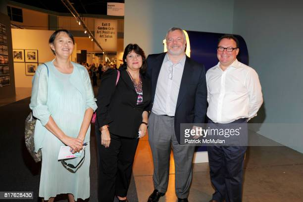 Barbara Chu Nancy Harrison Andy Augenblick and Paul Kasmin attend ART BASEL MIAMI BEACH 2010 at Miami Beach Convention Center on December 1 2010 in...