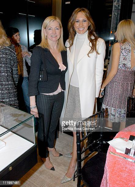 "Barbara Cirkva and Melania Knauss during Chanel and Pamela Gross Host The Luncheon for ""Collection Privee"" Fine Jewelry at Chanel Boutique in New..."