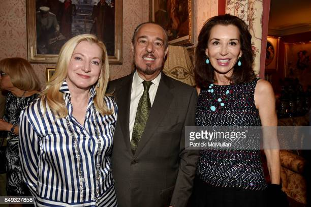 Barbara CirkvaSchumacher Marc Rosen and Fe Fendi attend Jackie Weld Drake hosts Casita Maria's Fiesta 2017 Cocktail Party at Private Residence on...