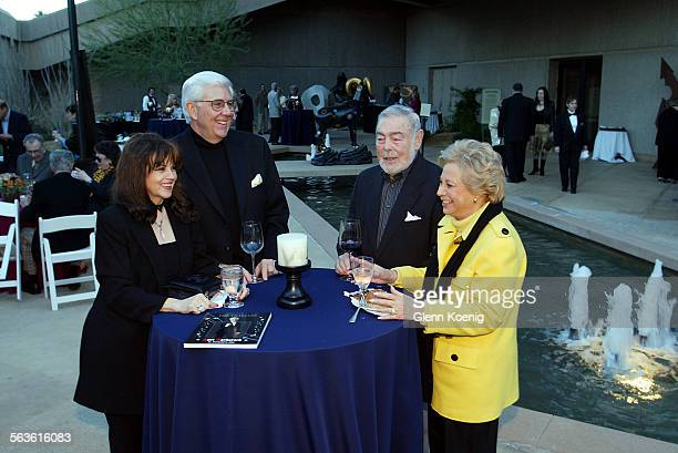 Barbara Cohen Larry Wolfe Bert Rosenbloom and Adelle Heller attended a cocktail party to support the Thalians Presidents Club and the Barbara Sinatra...