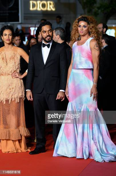 "Barbara Colen, Thomas Aquino and Silveiro Peirera attend the screening of ""Bacurau"" during the 72nd annual Cannes Film Festival on May 15, 2019 in..."