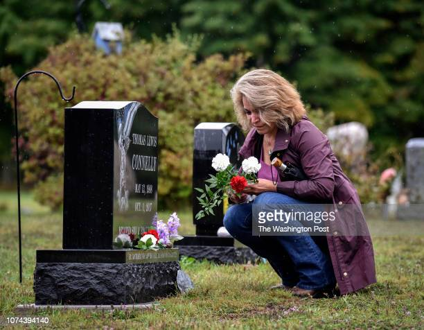 Barbara Connelly visits the grave of her son Tom Connelly a rookie sheriff's deputy in rural Wisconsin who took his own life after being involved in...