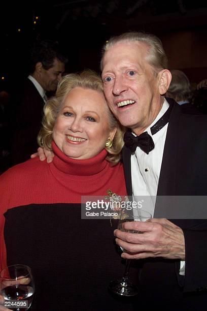 Barbara Cook and musical director Wally Harper at the opening night party following her performance in Mostly Sondheim at Lincoln Center in New York...
