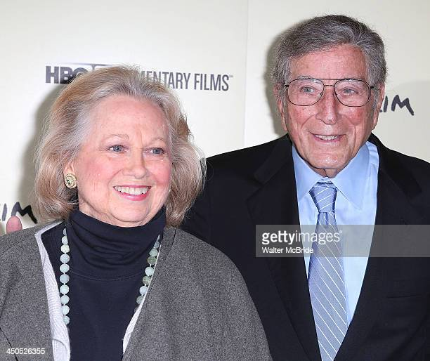 Barbara Cook and Tony Bennett attend the Six By Sondheim premiere at the Museum of Modern Art on November 18 2013 in New York City