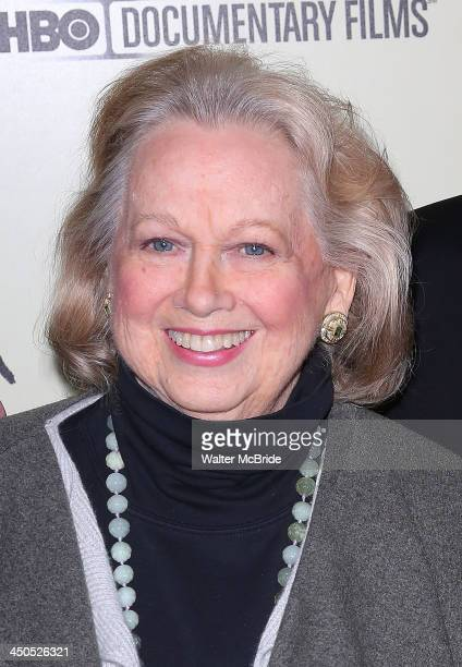 Barbara Cook attends the Six By Sondheim premiere at the Museum of Modern Art on November 18 2013 in New York City