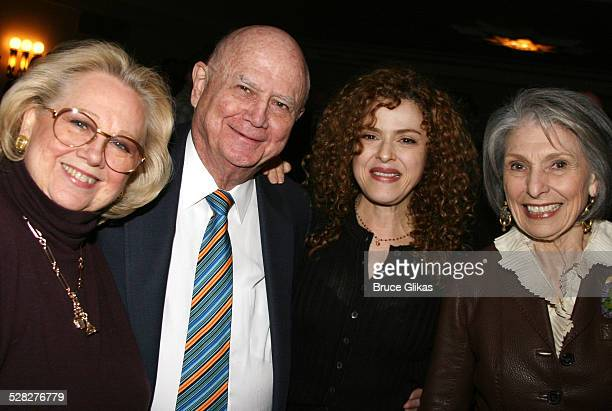 Barbara Cook Gerald Schoenfeld Bernadette Peters and Pat Schoenfeld