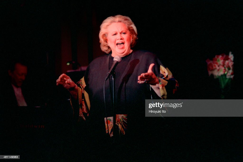 Barbara Cook performing at Feinstein's at the Regency on Wednesday night, November 22, 2000.