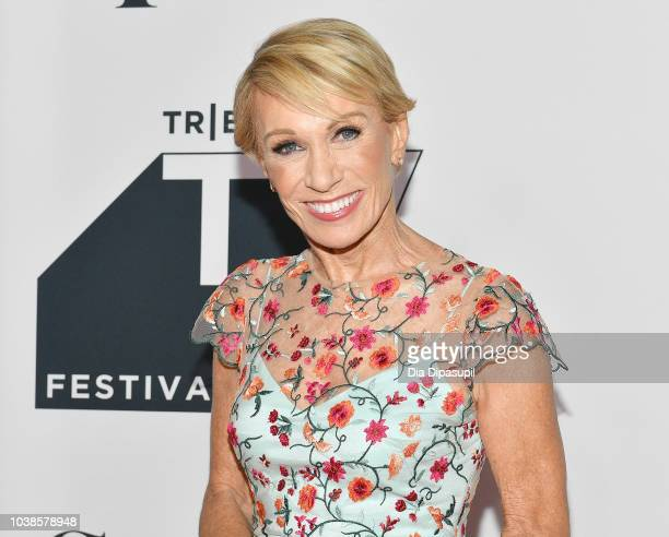 Barbara Corcoran attends the Tribeca Talks Panel 10 Years Of Shark Tank during the 2018 Tribeca TV Festival at Spring Studios on September 23 2018 in...