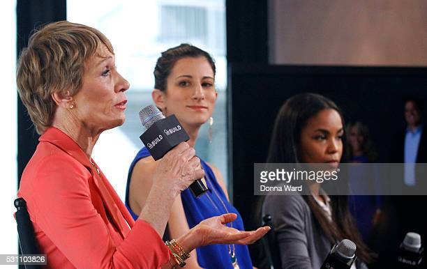 Barbara Corcoran Jess Edelstein and Sarah Ribner appear to discuss Shark Tank during the AOL BUILD Speaker Series at AOL Studios In New York on May...