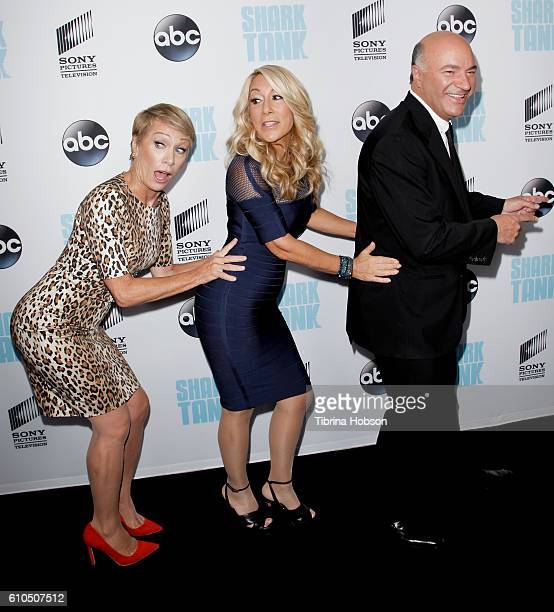 Barbara Corcoran Lori Greiner and Kevin O'Leary attend the 'Shark Tank' season 8 premiere at Viceroy L'Ermitage Beverly Hills on September 23 2016 in...