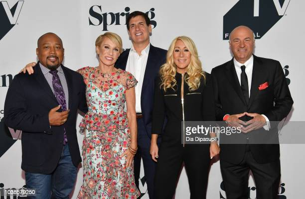 Barbara Corcoran Lori Greiner and Kevin O'Leary speak onstage during the Tribeca Talks Panel 10 Years Of 'Shark Tank' during the 2018 Tribeca TV...