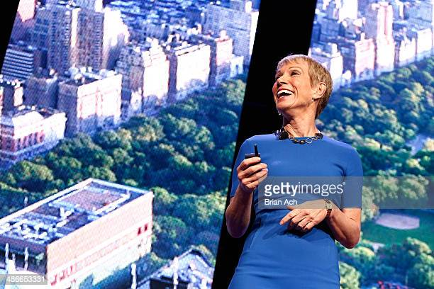 Barbara Corcoran speaks on stage at NAPW 2014 Conference Day 2 on April 25 2014 in New York City