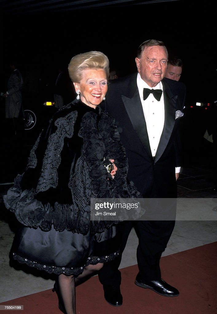 Barbara Davis and Marvin Davis at the Beverly Hills Hotel in Beverly Hills, California