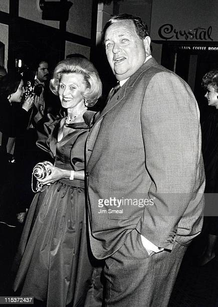 Barbara Davis and Marvin Davis during 'Dynasty' Wrap Party April 5 1987 at Beverly HIlls Hotel in Beverly Hills California United States