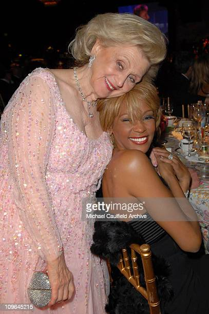 Barbara Davis and Whitney Houston during MercedesBenz Presents the 17th Carousel of Hope Ball Backstage and Audience at Beverly Hills Hilton in...