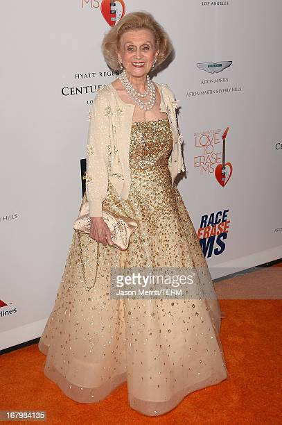 Barbara Davis attends the 20th Annual Race To Erase MS Gala 'Love To Erase MS' at the Hyatt Regency Century Plaza on May 3 2013 in Century City...