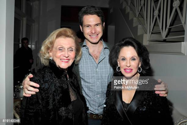 Barbara Davis Bronson Van Wyck and Nikki Haskell attend ALEX HITZ Party at Private Residence on March 6 2010 in Hollywood California