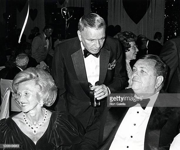 Barbara Davis Frank Sinatra and Marvin Davis during Frank and His Friends Valentine's Day Love In II at The Canyon Hotel in Palm Springs CA United...
