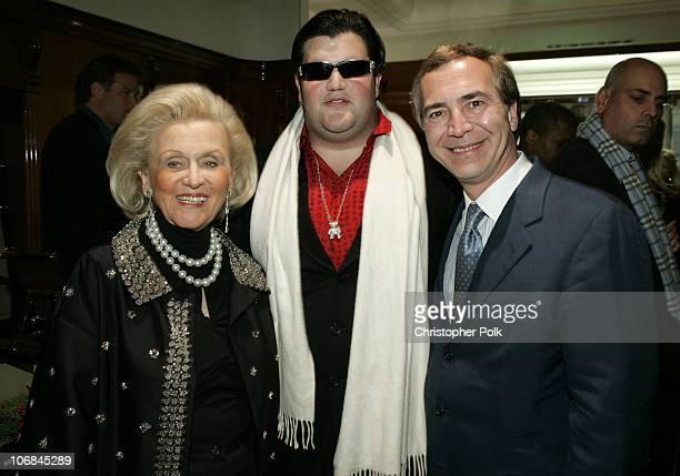 Barbara Davis Jason Davis and Thierry Chaunu president of Chopard USA