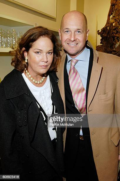 Barbara de Kwiatkowski and Brett Sherlock attend Opening Exhibition of The Fold by Caroline ChariotDayez at Lars Bolander on April 6 2006 in New York...