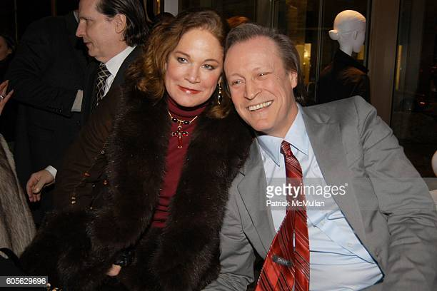 Barbara de Kwiatkowski and Patrick McMullan attend The Launch of PATRICK MCMULLAN'S Book KISS KISS and the new DKNY Fragrance RED DELICIOUS at DKNY...