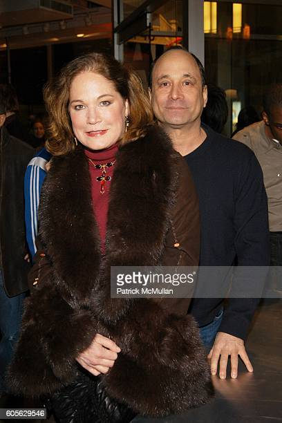 Barbara de Kwiatkowski and Ross Bleckner attend The Launch of PATRICK MCMULLAN'S Book KISS KISS and the new DKNY Fragrance RED DELICIOUS at DKNY...