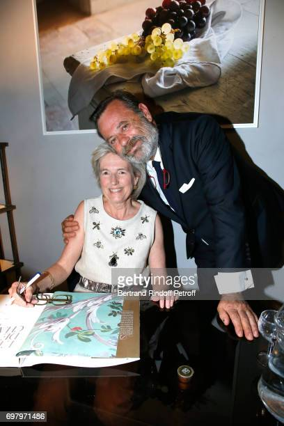 Barbara de Nicolay and Louis Benech attend Barbara de Nicolay signs her Book L'Esprit du Chateau de Lude with the Eric Sander's Le Lude Photos...