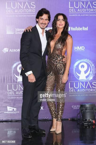 Barbara de Regil and Fernando Schoenwald attend Las Lunas del Auditorio Nacional 2017 at Auditorio Nacional on October 25, 2017 in Mexico City,...
