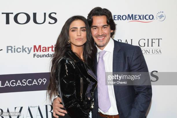 Barbara de Regil and Fernando Schoenwald attend the Global Gift Gala red carpet at St Regis hotel on October 3 2018 in Mexico City Mexico