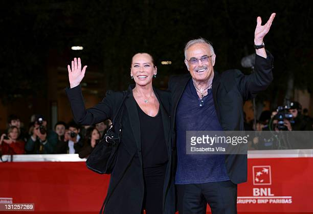 Barbara De Rossi and musician Franco Califano attend the Noi Di Settembre premiere during the 6th International Rome Film Festival on November 3 2011...