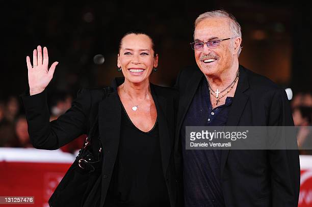 Barbara De Rossi and Musician Franco Califano attends the Noi di Settembre Premiere during the 6th International Rome Film Festival at Auditorium...