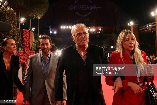 Barbara De Rossi guest and Musician Franco Califano attend the Noi Di Settembre premiere during the 6th International Rome Film Festival on November...