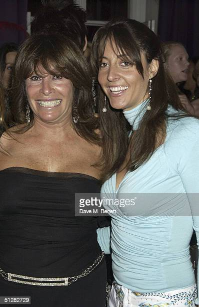 Barbara Dein and guest attend SvenGoran Eriksson's exgirlfriend Nancy Dell'Olio's belated birthday party at Morton's on September 9 2004 in London...