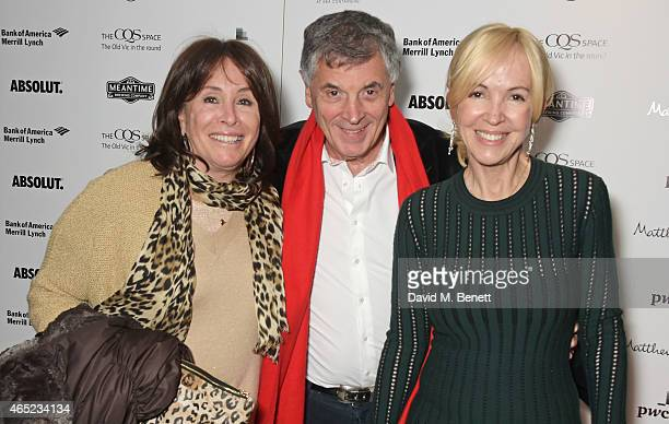 Barbara Dein David Dein and Old Vic CEO Sally Greene attend The Old Vic's Clarence Darrow Guest Night after party at Mondrian London on March 4 2015...