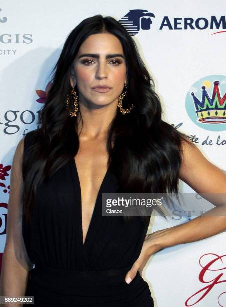Barbara del Regil poses during the red carpet of The Global Gift Gala at St Regis Hotel on November 01 2017 in Mexico City Mexico