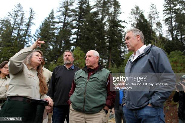 Barbara Drake with Plumas National Forest talks to California District 1 Congressman Doug LaMalfa US Secretary of Agriculture Sonny Perdue and US...