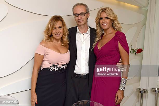 Barbara D'Urso Angelo Ascoli and Tiziana Rocca attend 'Diva e Donna' Party during the 71st Venice Film Fetival at Centurion Palace Hotel on September...
